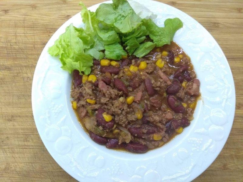 Chili con carne, riche en protéines et sans aucun additif