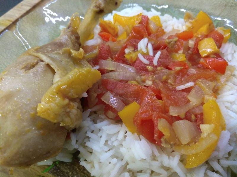 Poulet basquaise au riz semi complet
