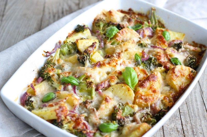 Gratin aux pommes de terre et brocolis
