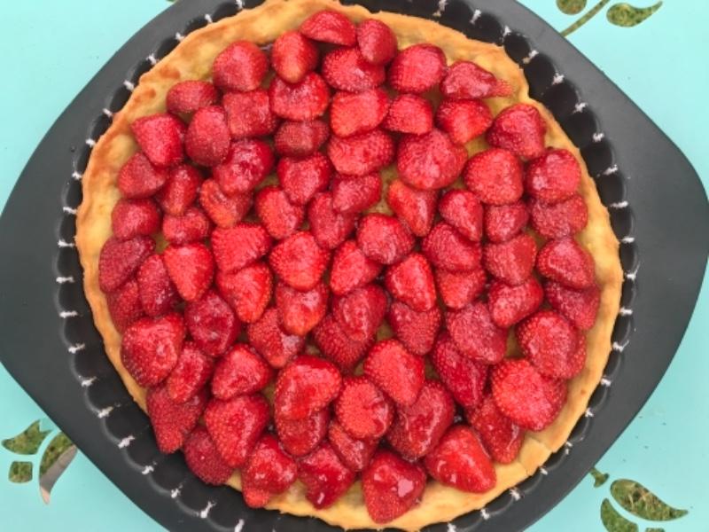 Tarte aux fraises légère sans crème